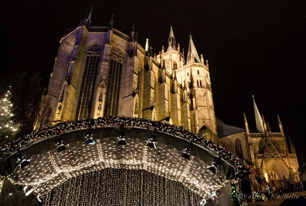 Natale in Germania_Duomo di Erfurt illuminato