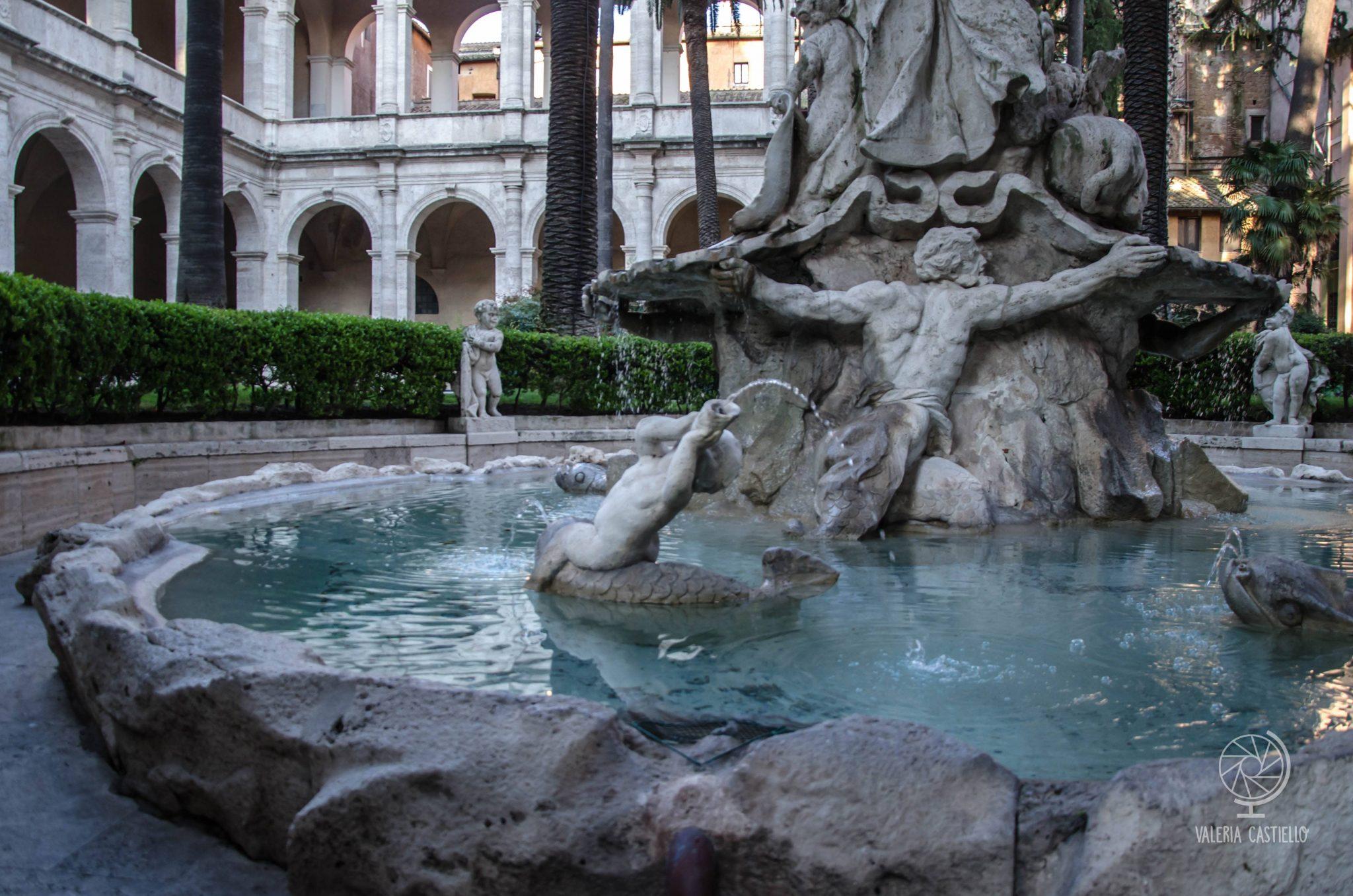 Giardino di Palazzo Venezia a Roma: la fontana del giardino ritrovato