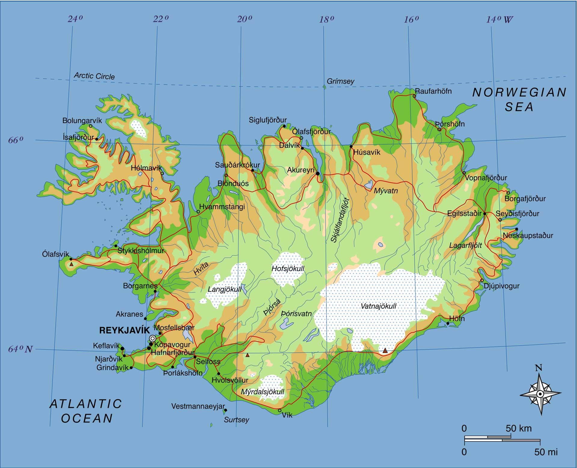 Cartina Norvegia Da Stampare.Mappe Di Islanda E Cartine Utili Per Un On The Road Valeria Castiello