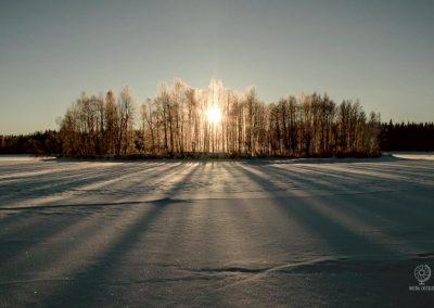 Lapponia Svedese in inverno