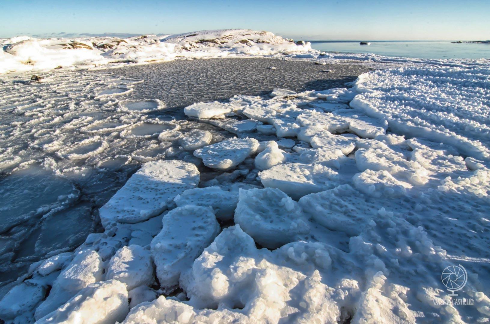 Esempio di Pack Ice (Mare ghiacciato in Svezia del Nord)