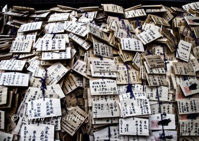 Prayers cards al santuario Kitano-Tenmangu, Kyoto