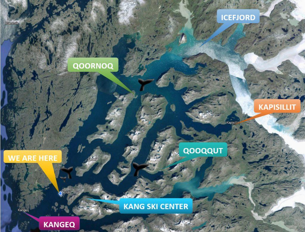 Mappa di Nuuk e dintorni © Tupilak Travels