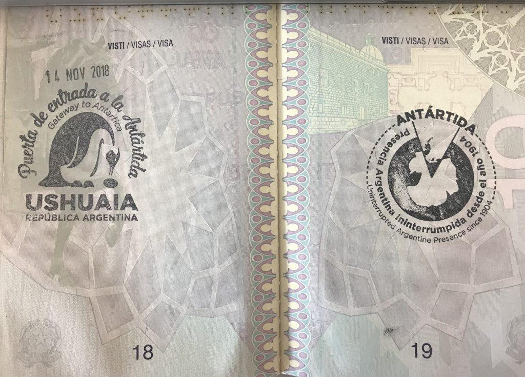 Timbro passaporto_Antartide_Ushuaia