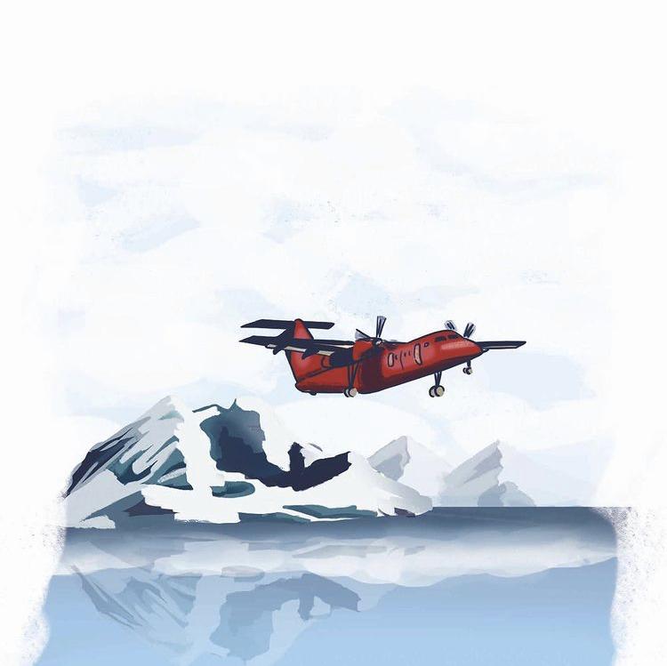 Flying Stories - Groenlandia_Lonely Planet Magazine #10_ Illustrazione di Daniela Bracco