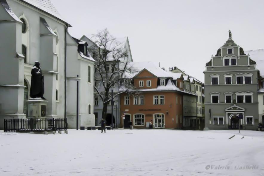 Weimar, Herderplatz innevata a Novembre