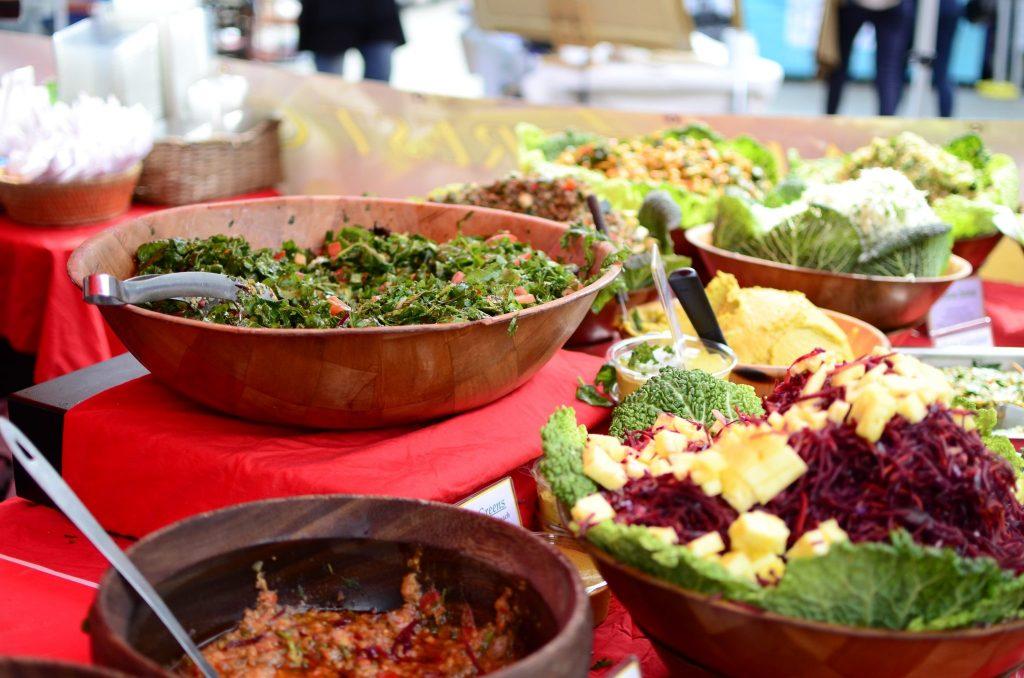 Herne Hill Market, insalate tropicali da Rainforest Creations