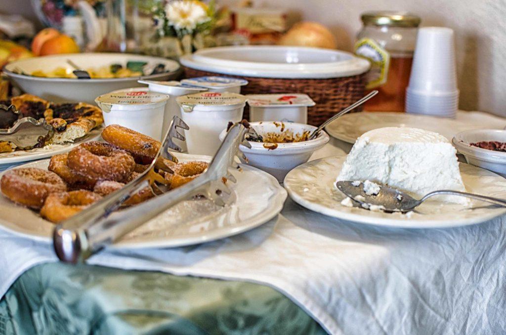 La colazione all'agriturismo Colleverde di Capalbio