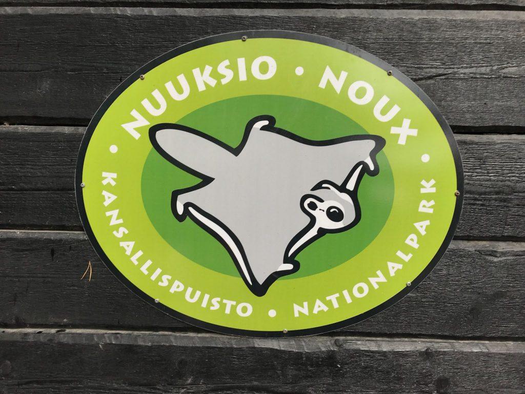 Il logo del Parco Nazionale di Nuuksio: lo scoiattolo volante