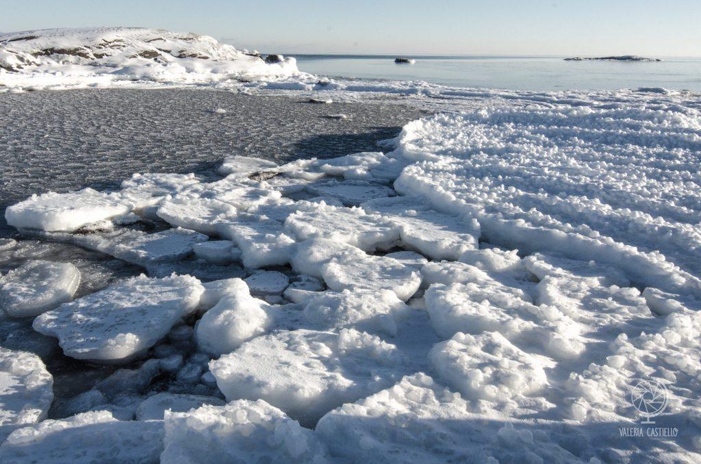 Mare ghiacciato in Svezia del Nord - Golfo di Botnia