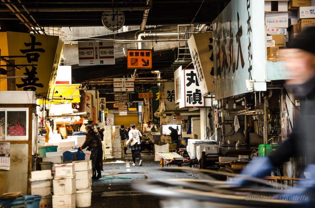 Mercato di Tsukiji -Giappone low cost