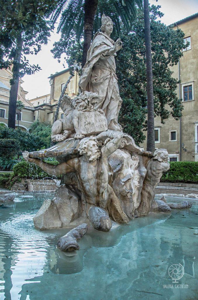 Giardino di Palazzo Venezia a Roma: la fontana settecentesca - Il Giardino ritrovato di Roma