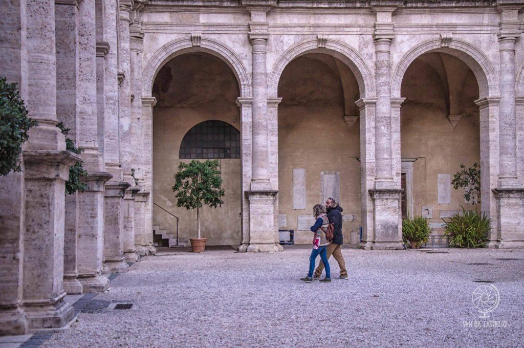Giardino di Palazzo Venezia a Roma: loggia rinascimentale