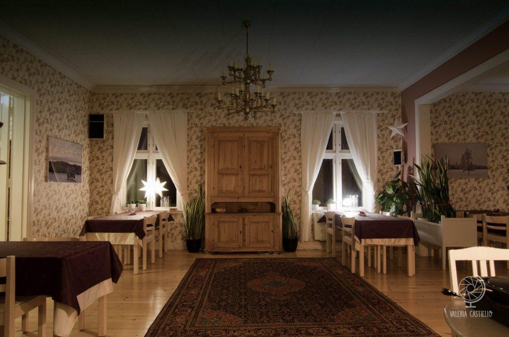 Interni del Lantliv Lodge, Lapponia Svedese