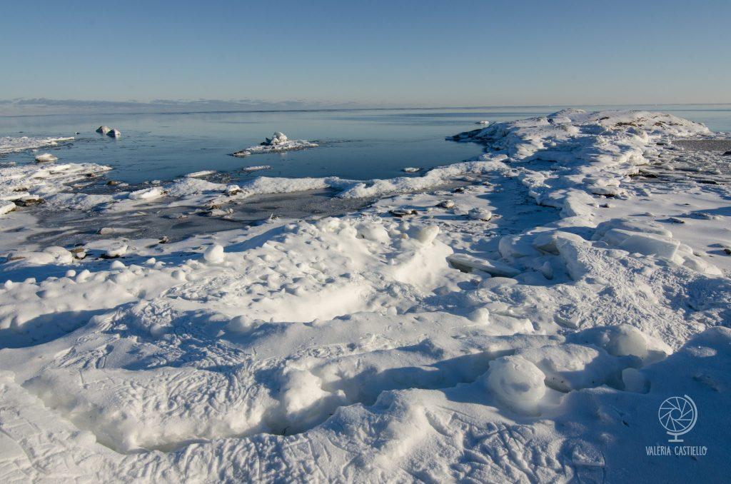 Mar Baltico ghiacciato, Svezia del Nord