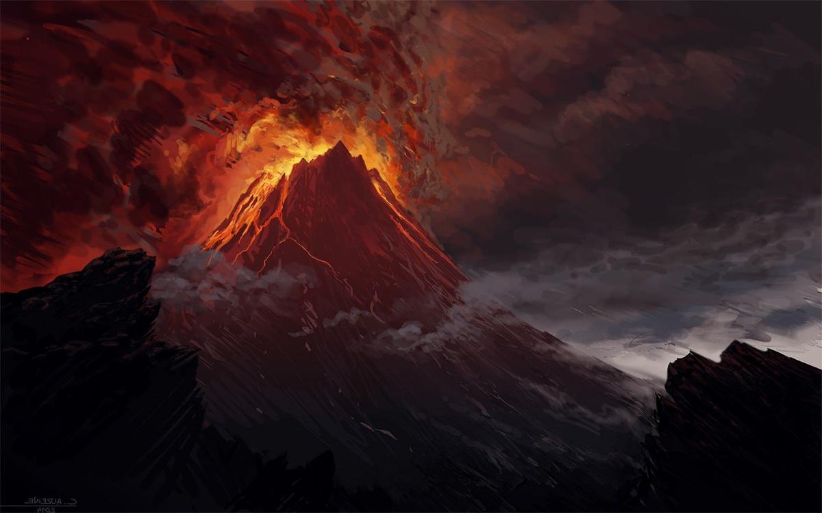 eruzione vulcanica Islanda 2021 come Mordor
