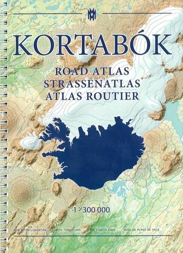 Mappa di Islanda cartacea - Road Atlas
