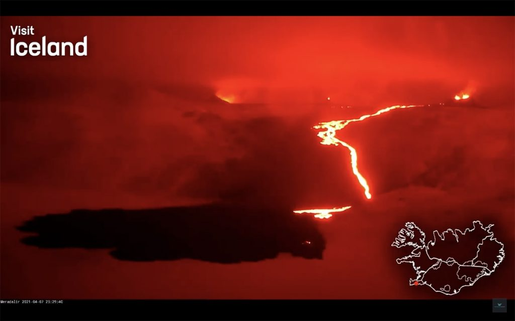 Vulcano Islanda, eruzione 2021 - Fagradalsfjall