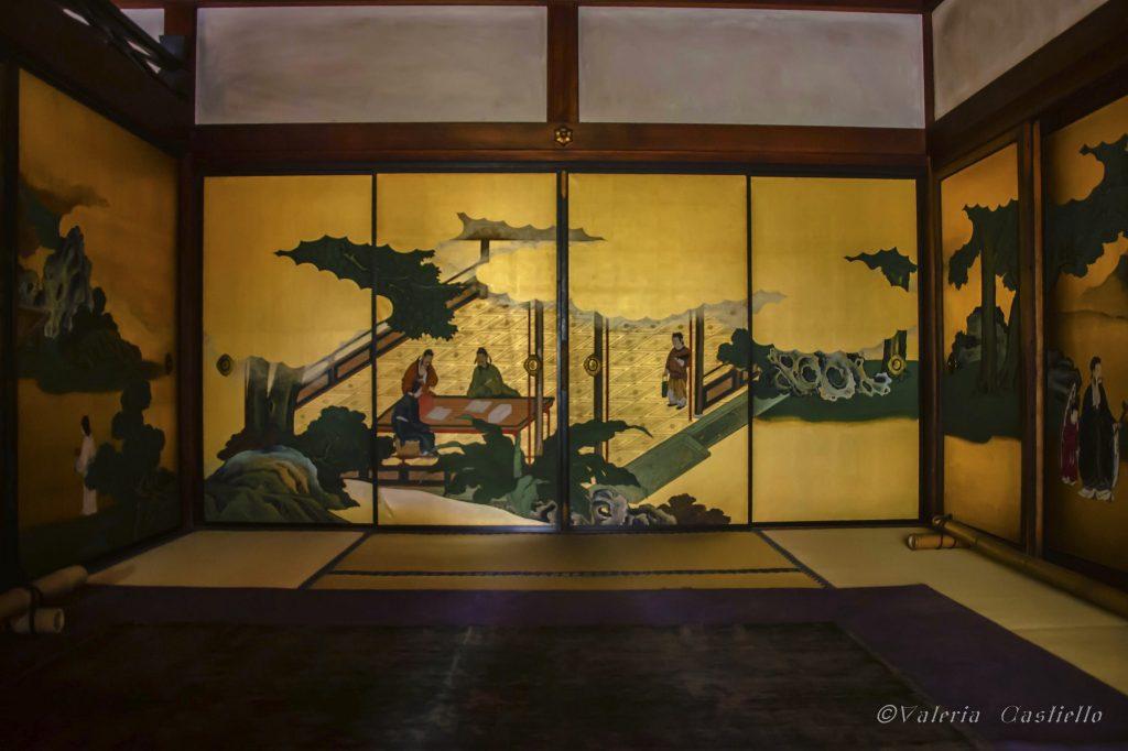 Templi buddisti a Kyoto: Shunkoin, dipinti dorati nell'edificio principale