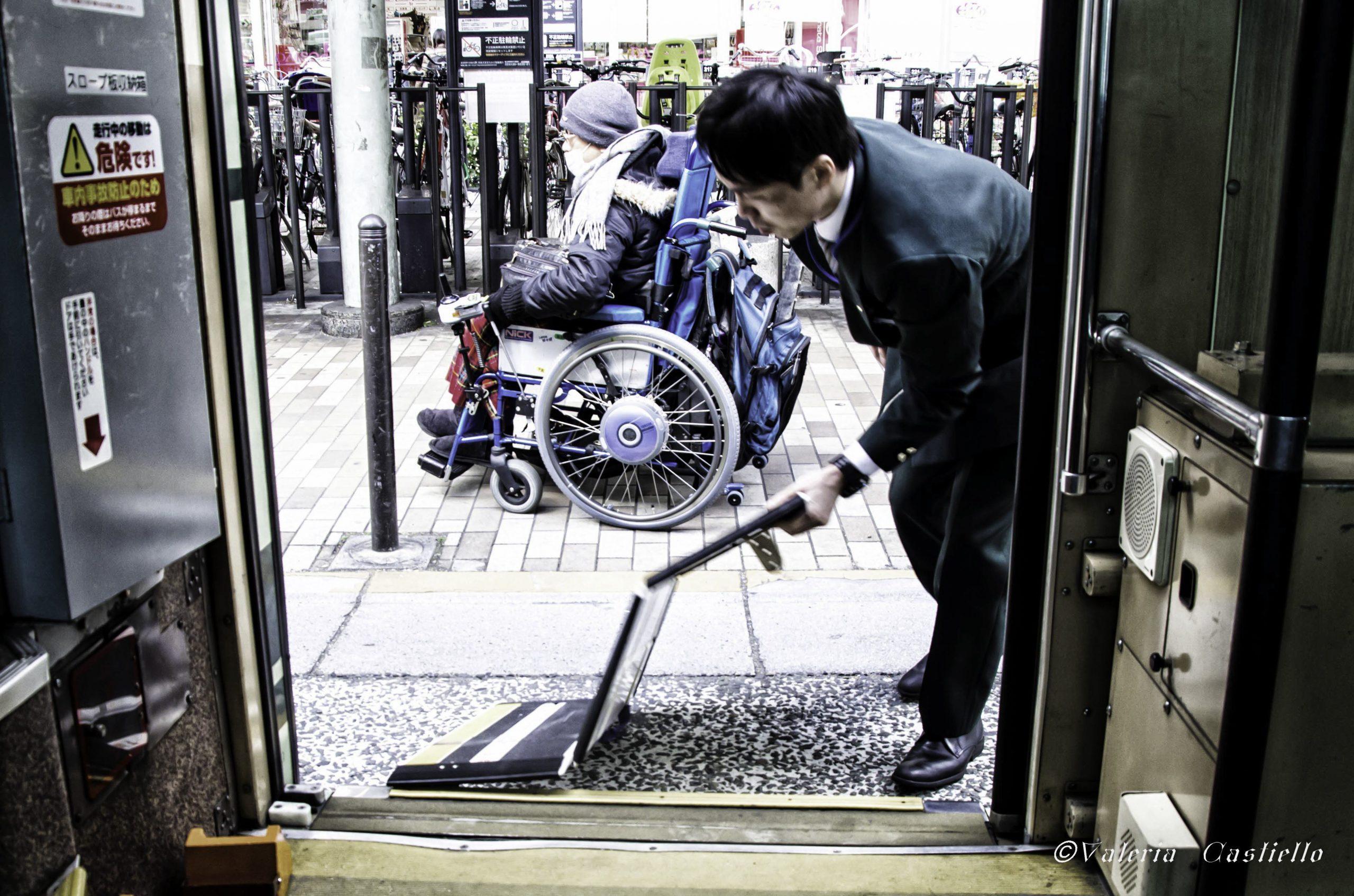 Giappone - Kyoto, pedana bus_wm
