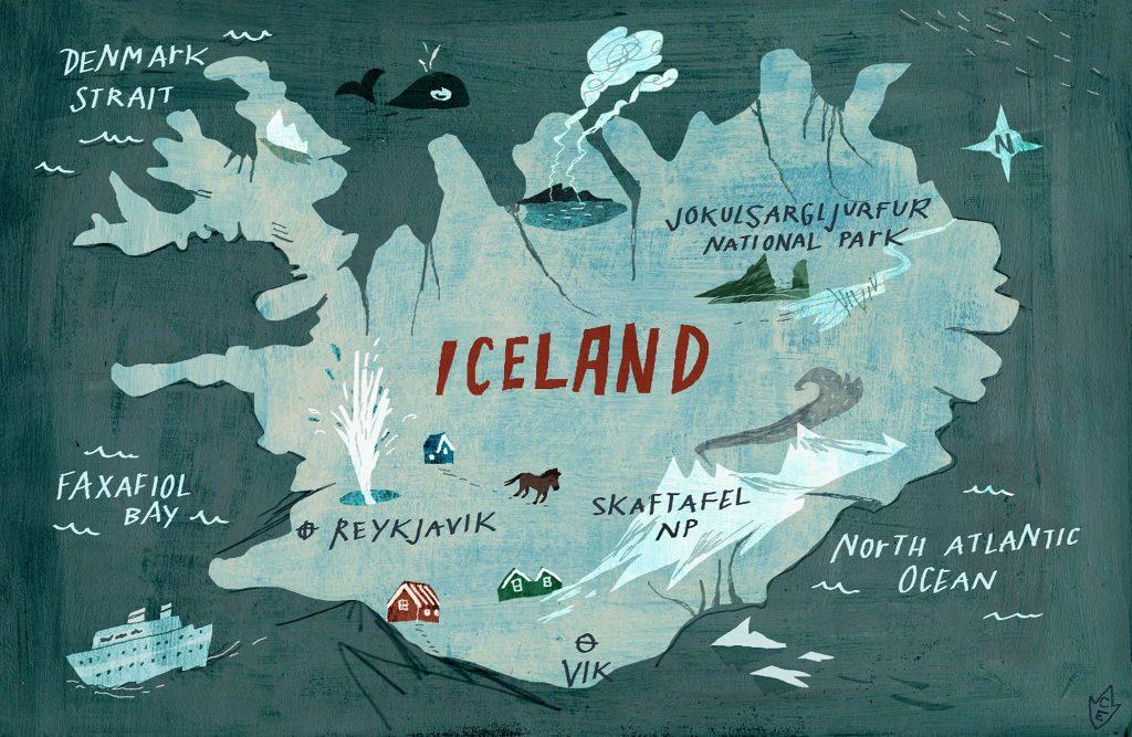 Mappe di Islanda e cartine utili per un on the road - Mappa concettuale diC. Engel