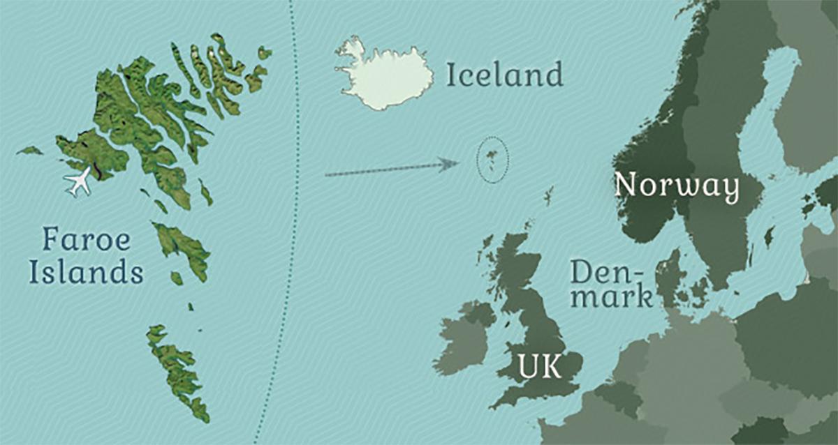 Fær Øer_mappa delle Isole faroe